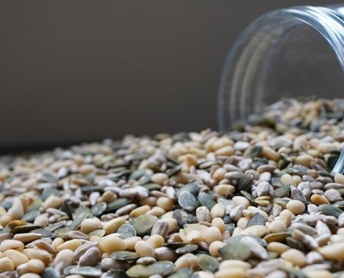 Pittenmix-pompoenpitten-pijnboompitten-zonnebloempitten-dehorecabox-noten-pitten-zaden-gezond